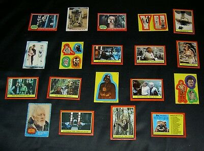 Vintage Star Wars,empire,return Of Jedi Cards,stickers.rare Collectable Lot.g41