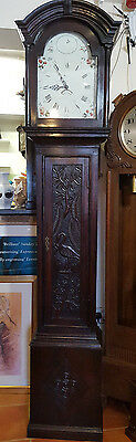 Beautiful Antique Oak Whitby Carved Grandfather Clock, Delivery Arranged