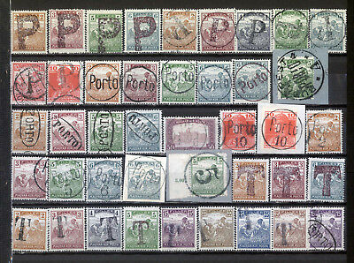 Hungary old porto provisional postage due stamps selection *b171010