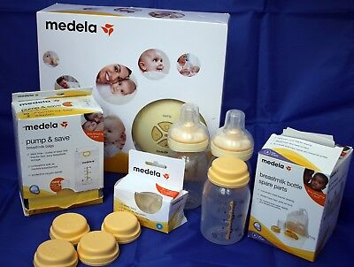 Medela swing breast pump, accessories, bottles & more. Great bundle!