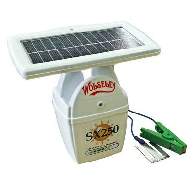 Wolseley Sx250 Solar-Powered Electric Fence Energiser Battery-Powered