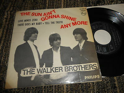 "THE WALKER BROTHERS The sun ain't gonna shine any more +3 EP 45 7"" 1966 SPAIN"