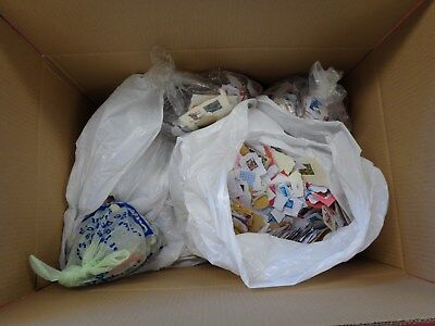 13KG+ of Unsorted Kiloware MOSTLY GB STAMPS (Mixture of Mint / Franked)