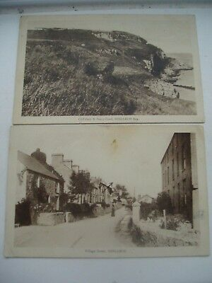 Benllech & Bay Anglesey 1916 2 Sepia Rp Cards