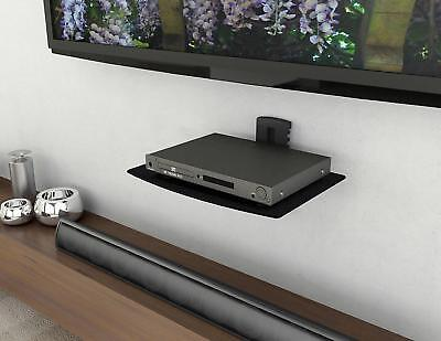 Single Glass Shelf Wall Mount Bracket Under TV Component Cable Box DVR DVD