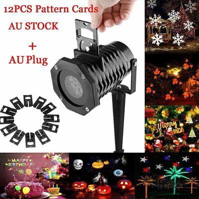 12PCS Outdoor Garden Laser Light Projector LED Lighting Home Christmas Party Dec