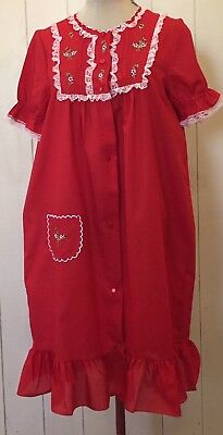 Vintage 'Fashion Whispers' Night Dress with Embroidery and Lace - Size 14