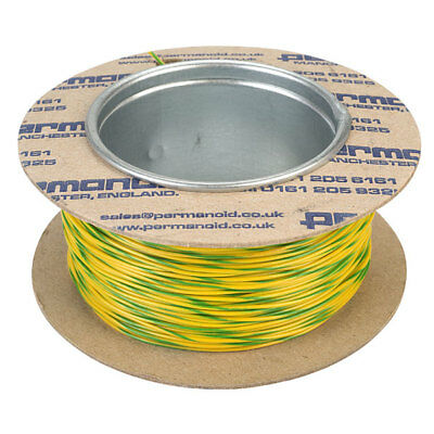 7/0.2mm Equipment Wire Cable (100m reel) - Green/Yellow