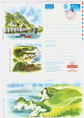 GB Airmail - Aerogramme Letter, Landscapes Of Britain. Postmarked.  #791