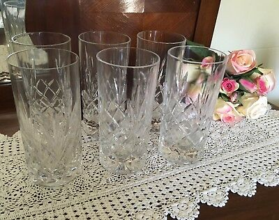 WATERFORD CRYSTAL MARQUIS Highball Set of 6 - As New