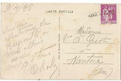 Paix 40C Points De Rouille Carte Paquebot Ss Sphinx + Mention Beyrouth Lebanon