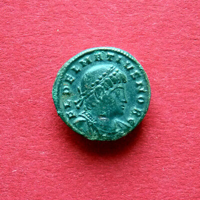 DELMATIUS Rare AE3 Follis | GLORY of ARMY / RIC VII-Thess 228