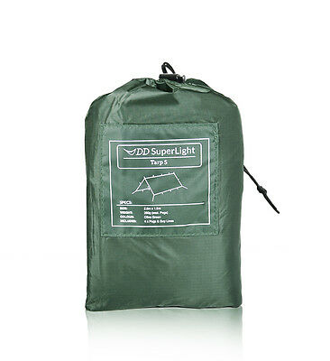 DD SuperLight Tarp S **Ultralight Compact Camping Basha, Hootchie, Rain Fly**