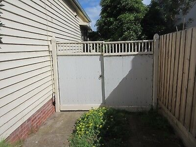 DRIVEWAY GATES - PERIOD STYLE, METAL FRAME,  ZINC METAL, TIMBER FEATURE TOP  ,6f