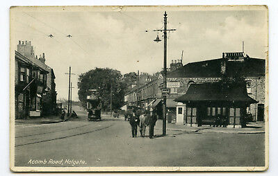 York, Acomb Road, Holgate.   1935 posted tram real photo.