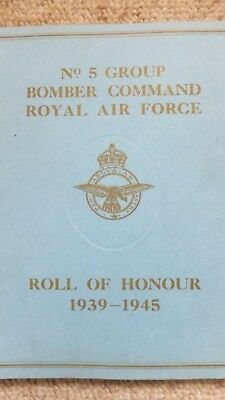 Roll of Honour No 5 Group Memorial Books Lincoln Cathedral 8 November 1949, whol