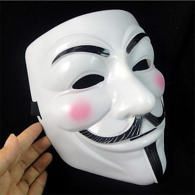Sales V For Vendetta Mask Guy Fawkes Anonymous Halloween Masks Fancy Cosplay LXJ