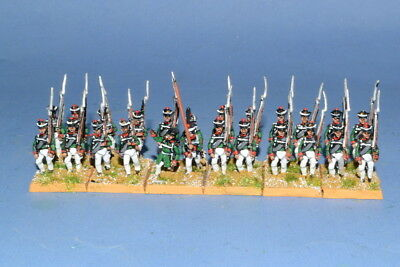 15mm Napoleonic Painted Russian Musketeer  Ru03-4