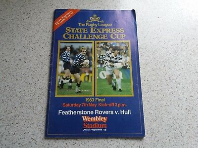 1983 Rugby league Challenge Cup Final Programme (Featherstone Rovers V Hull)