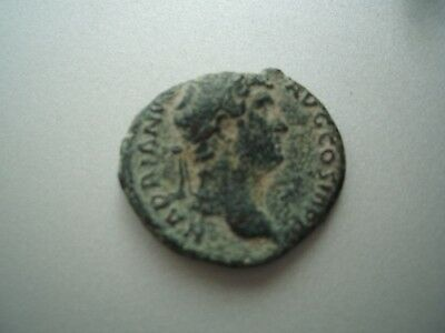 Excellent Hadrian Roman Bronze As Coin