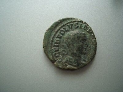 Scarce Volusian Roman Bronze As Coin