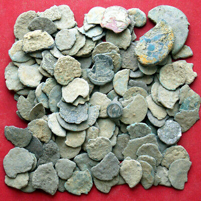 lots of 130 pcs / 199 Grams - 7.0 Ounces Roman coins fragments - scrap coins