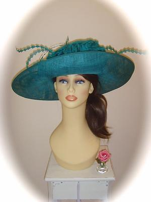 Mother of Bride Ascot Occasion Wedding Condici 9157 Hat, Emerald