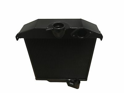ROOSE.Jaguar XK120 Lightweight High Efficiency Alloy Radiator. Black