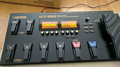 Boss GT-100 V2 + Boss GT100 Amp Effects Processor Guitar Pedal (home use only)