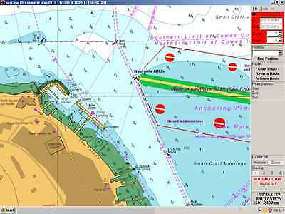 800+ UK/Ireland 2017 nav charts c/w chart plotter software.  Legal and Licensed