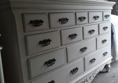 Wooden Shabby Chic Large White Side Chest of Drawers/Cabnet Funiture