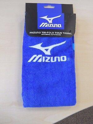 Mizuno  Tri Fold Tour  Towel In Blue Staff Colours   ( Brand New With Packaging)