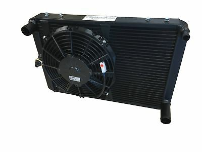 ROOSE. Triumph Dolomite Sprint Lightweight High Efficiency Alloy Radiator + Fan