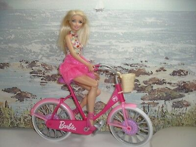 barbie on her bike,out shopping