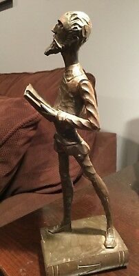 "Don Quixote Ouro Artesania Carved 8"" Wood Figurine"