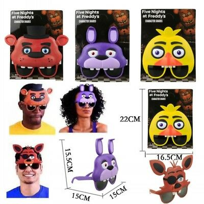 Five Nights At Freddy's FNAF Mask Halloween Horror Party Teddy Kids Glasses Toy