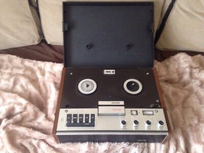 Serviced! Vintage 1970S Philips N4308 Reel To Reel Tape Recorder