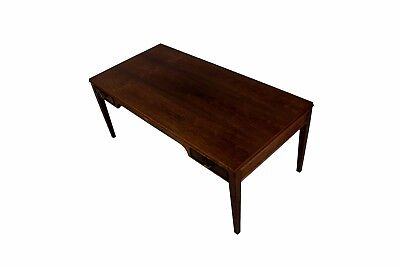 Danish mid century coffee table, Frits Henningsen, four drawers, brass handles