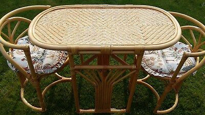 Bamboo Wicker Table & Chairs