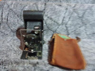 Vintage Pocket Ensign Synchro Camera And Case
