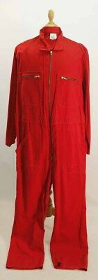 Red Cotton Jump Suit