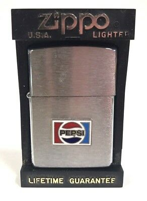 VINTAGE ZIPPO LIGHTER ~ PEPSI COLA ADVERTISING ~ w/ ORIGINAL CASE & INSTRUCTIONS