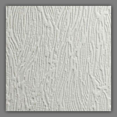 56 sq. ft. Forest Bark Textured White Paintable Wallpaper 11 yds x 20.5 Decor