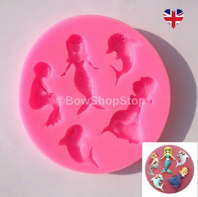 Mermaid Silicone Mould for Fondant Cake Decorating Chocolate Fimo Polymer Clay