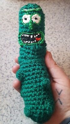 Rick and morty PICKLE RICK Handmade crocheted toy GIFT adult swim