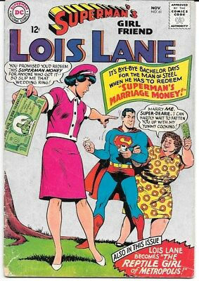 Superman's Girl Friend Lois Lane a LOT of 9 comics from the 1960's