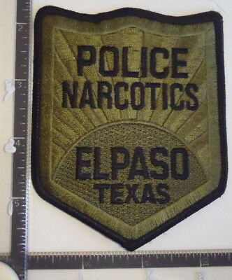 El Paso Narcotics TX Police Patch TEXAS Drugs Subdued SRT ERT