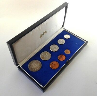 South Africa Proof Coin Set 1974 as Issued by the S A Mint in Original Box #CIM