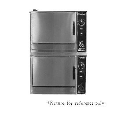 Groen (2)HY-3E Double-Stacked HyperSteam Electric Convection Steamer - 8.0 kW