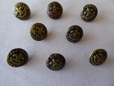 Set of 8 Boy Scout Metal Buttons